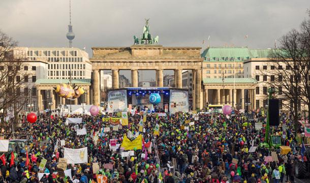 Wir haben Agrarindustrie satt!-Demo am 19.1.2018 mit über 20.000 engagierten Menschen